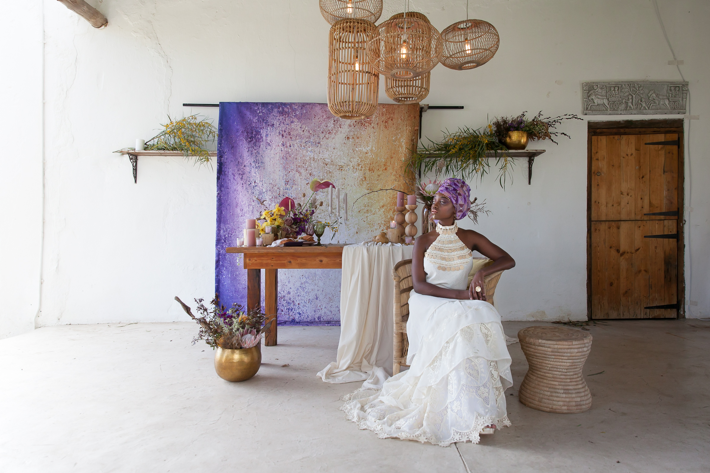 African violet inspired wedding by Cape Town Florist Epanouir Flower Studio