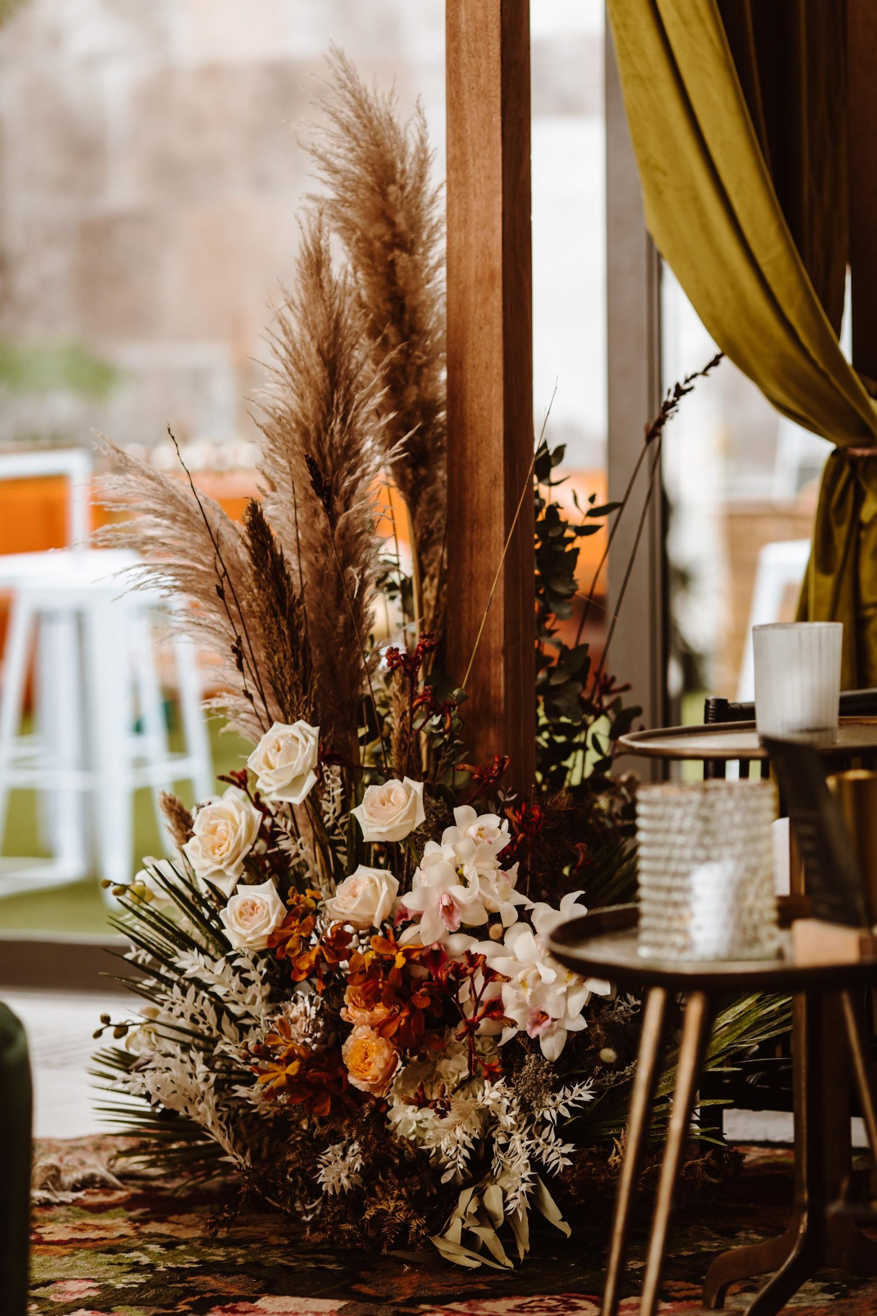moroccan themed anniversary party with dried and fresh flowers, cape town event florist